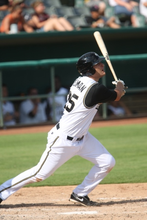 The Padres' Nate Freiman may be the most Majors-ready slugger available. (Shawn E. Davis/MiLB.com)