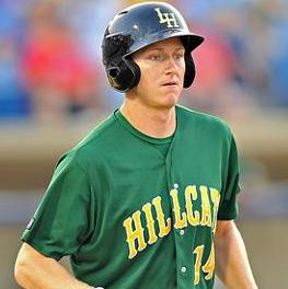 David Rohm was coming off the bench in last year's playoffs but is now producing in bunches in the Carolina League. (Ken Inness/MiLB.com)