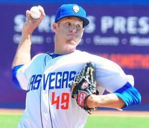 Zack Wheeler ranks second in the PCL with 40 strikeouts. (Steve Spatafore/51s)