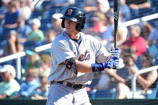 Brandon Nimmo with the Binghamton Mets (Kevin Pataky/MiLB.com)