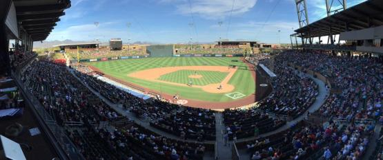 Salt River Fields, home to the D-backs and Rockies, is not to be missed in Arizona.