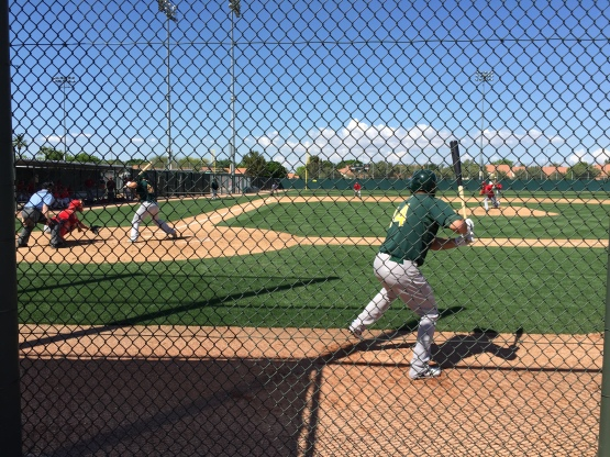 A's and Angels Minor Leaguers clashed at Oakland's Mesa training complex.